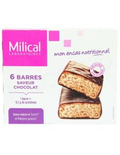 Milical Nutrition 27g x 6 barres minceur saveur chocolat