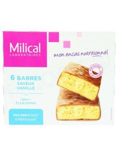Milical Nutrition 6 barres minceur saveur vanille