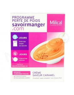 Milical Low Calorie Diet Crème Saveur Caramel. 4x55g