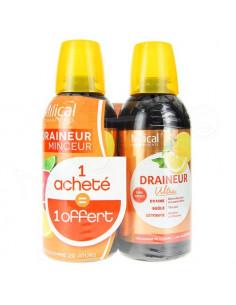 Offre Spéciale Milical Draineur Minceur Ultra - Gout Agrumes - Lot de 2 flacons de 500 ml