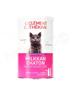 Milkkan Chaton Lait Maternisé en Poudre + 1 Biberon + 3 tétines. 400g - chatons et rongeurs