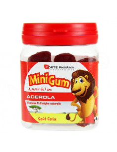 MiniGum Acérola Goût Cerise. 50 gommes