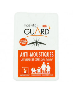 Moskito Guard Anti-moustiques Lait Visage & Corps. Spray pocket 18ml