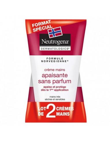 Neutrogena Crème Mains Apaisante sans Parfum. Lot 2x50ml