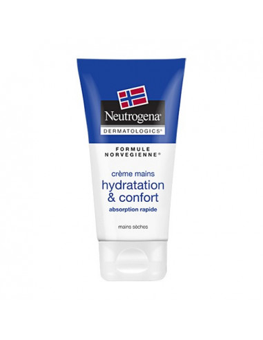 Neutrogena Crème Mains Hydratation & Confort Absorption Rapide. 75ml