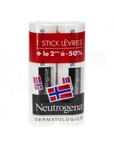 Neutrogena Stick Lèvres. Lot 2x48g