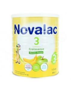 Novalac 3 croissance lait en poudre Banane pomme 1-3 ans pot 800g