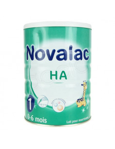 NOVALAC HYPOALLERGENIQUE Aliment lacté 1er âge. Boîtes de 800g - ACL 7865097