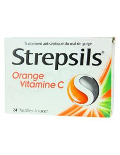 Strepsils Orange Vitamine C 24 pastilles à sucer