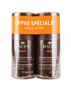 Nuxe Men Déodorant Protection 24h Roll-on. Lot 2x50ml