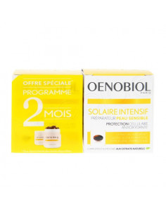 Oenobiol Solaire Intensif Préparateur Peau Sensible. Lot 2x30 capsules