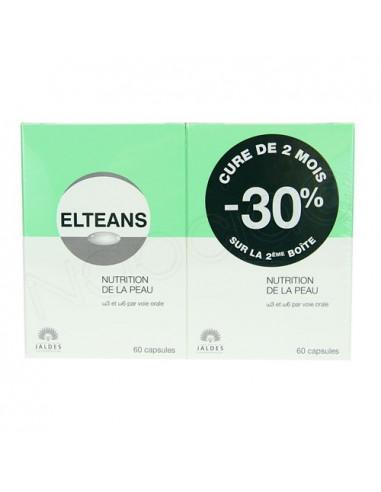 Elteans Nutrition de la Peau. Offre cure de 2 mois 2x60 capsules