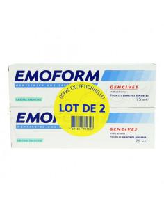offre emoform dentifrice gencives menthe lot 2x75ml