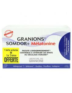 Offre Granions Somdor+ Mélatonine 2x15 comprimés la 2ème boite offerte