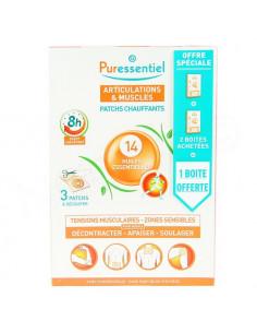 Offre Puressentiel Patchs Chauffants Articulations et Muscles. 3 Boites dont 1 Offerte