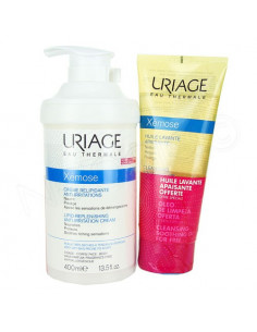 Uriage Xémose Crème Relipidante Anti-irritations 400ml + Xémose Huile Lavante 200ml OFFERTE