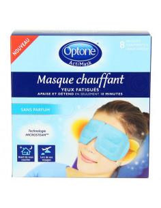 Optone ActiMask Masque Chauffant Yeux Fatigués. x8 masques