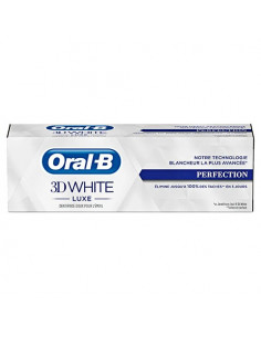 Oral B 3D White Luxe Dentifrice Perfection Anti-tâches. 75ml - dentifrice fluoré