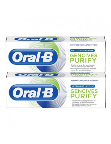 Oral-B Gencives Purify Nettoyage Intense Dentifrice. Lot 2x75ml