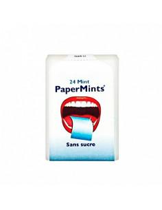 PaperMints Feuilles à la Menthe Sans Sucre. 24 feuilles