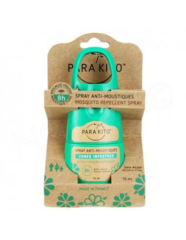 Para'Kito Spray Anti-moustiques Zones Infestées 8h. 75ml