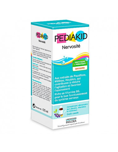 Pediakid Sirop Nervosité. 125ml - humeur et bon fonctionnement du système nerveux