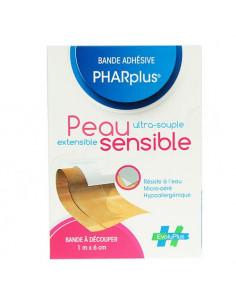 Pharplus Bande Adhésive Peau Sensible. 1m x 6cm