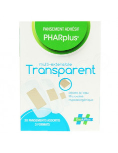 PHARplus Transparent 30 pansements assortis