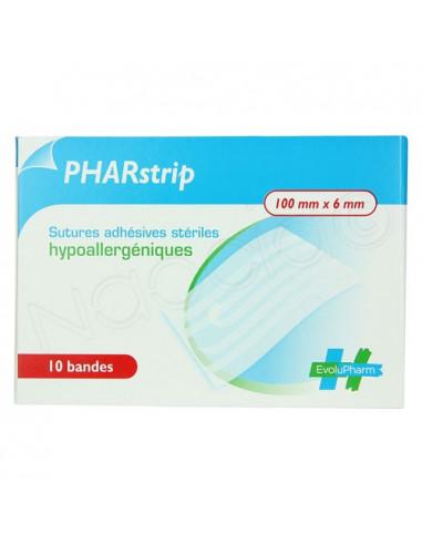 PHARstrip Sutures adhésives stériles hypoallergéniques x10 bandes