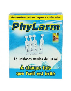 PHYLARM Solution oculaire irrigation. 16 Unidoses de 10ml- ACL 7748463