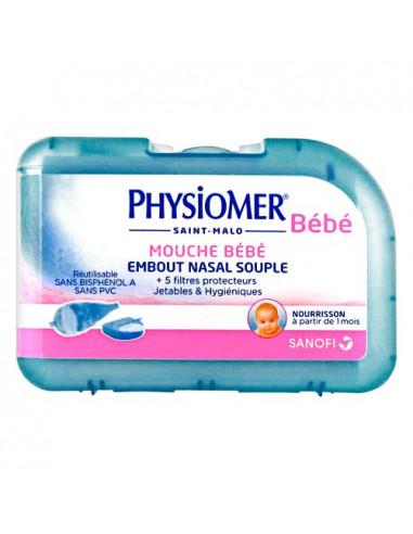 Physiomer Bébé Mouche Bébé Souple + 5 Filtres Protecteurs