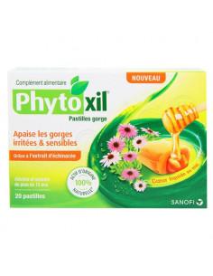 Phytoxil Pastilles Gorge irritée et sensible. 20 pastilles coeur liquide