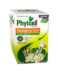 Phytoxil Sans sucre Soulage la toux. 12 Sachets toux - toux sèche ou grasse