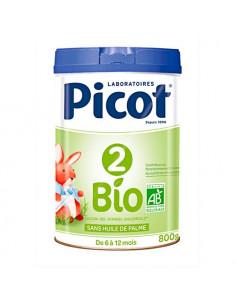 Picot 2 Bio Préparation de suite en poudre 6-12 Mois. 800g - riche en Oméga 3