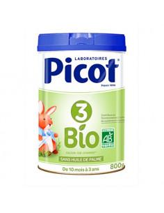 Picot 3 Bio Préparation de suite en poudre 10-36 Mois. 800g - riche en vitamines et sels minéraux