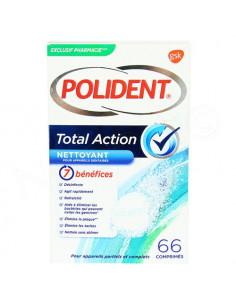 Polident Total Action Nettoyant pour Appareils Dentaires. 66 comprimés