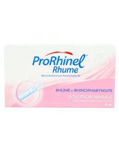 ProRhinel Rhume Rhinopharyngite Solution Nasale. 20 récipients unidoses stériles x5ml
