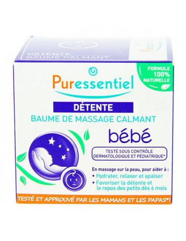 Puressentiel Détente Bébé Baume Massage Calmant. 30ml
