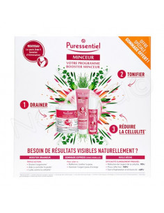 Puressentiel Minceur Coffret Draineur 240g + Huile 100ml + Gommage 150ml offert