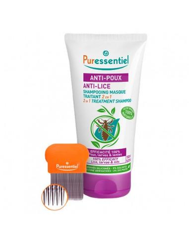 Puressentiel Anti-Poux Shampooing Masque Traitant 2 en 1. 150ml