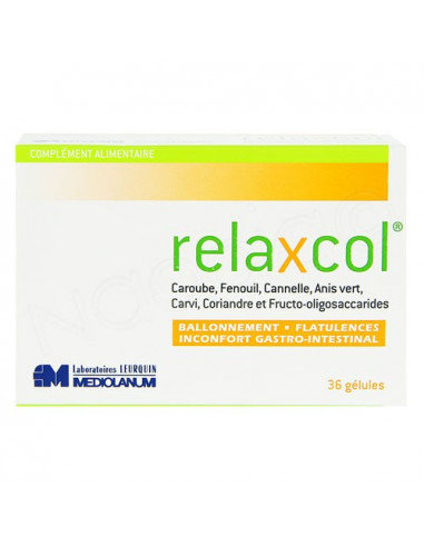 Relaxcol ballonnements confort intestinal flatulences 36 gélules