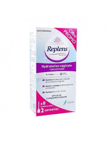 Replens Gel Vaginal Hydratation Longue Durée. x8 unidoses dont 2 OFFERTES