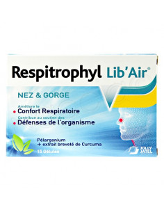 Respitrophyl Lib'Air Nez & Gorge. 15 gélules - rhume & fatigue