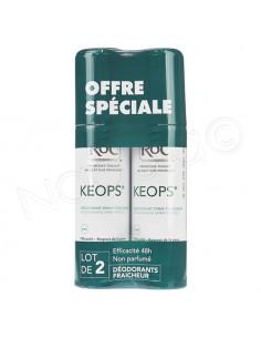 RoC Keops Déodorant Spray Fraîcheur Efficacité 48 Sans Parfum. Lot 2x100ml