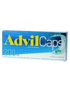 AdvilCaps 200mg Ibuprofène 16 capsules molles