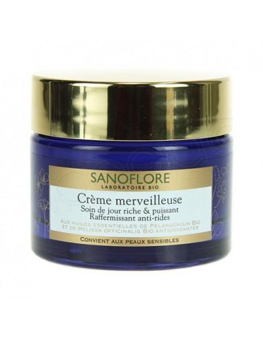 Sanoflore Crème Merveilleuse Soin de Jour Riche et Puissant. Pot 50ml