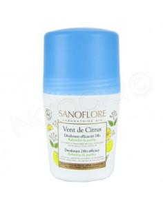 Sanoflore Vent de Citrus Déodorant Efficacité 24h. Roll-on 50ml