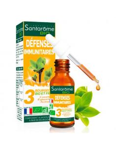 Santarome Bio défenses Immunitaires bourgeons de cassis églantier et d'aulne. 30ml -