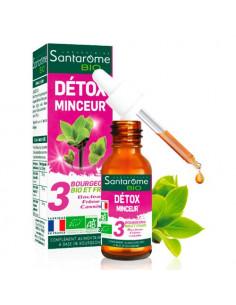 Santarome Bio Détox Minceur. 30ml - Bourgeons de bouleau frêne et cassis - BIO