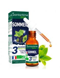 Santarome Bio Sommeil. 30ml - Bourgeons d'aubépine de figuier et de tilleul - BIO